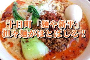麺や新平【十日町ランチ】担々麵と辛味噌ラーメンがおすすめ!