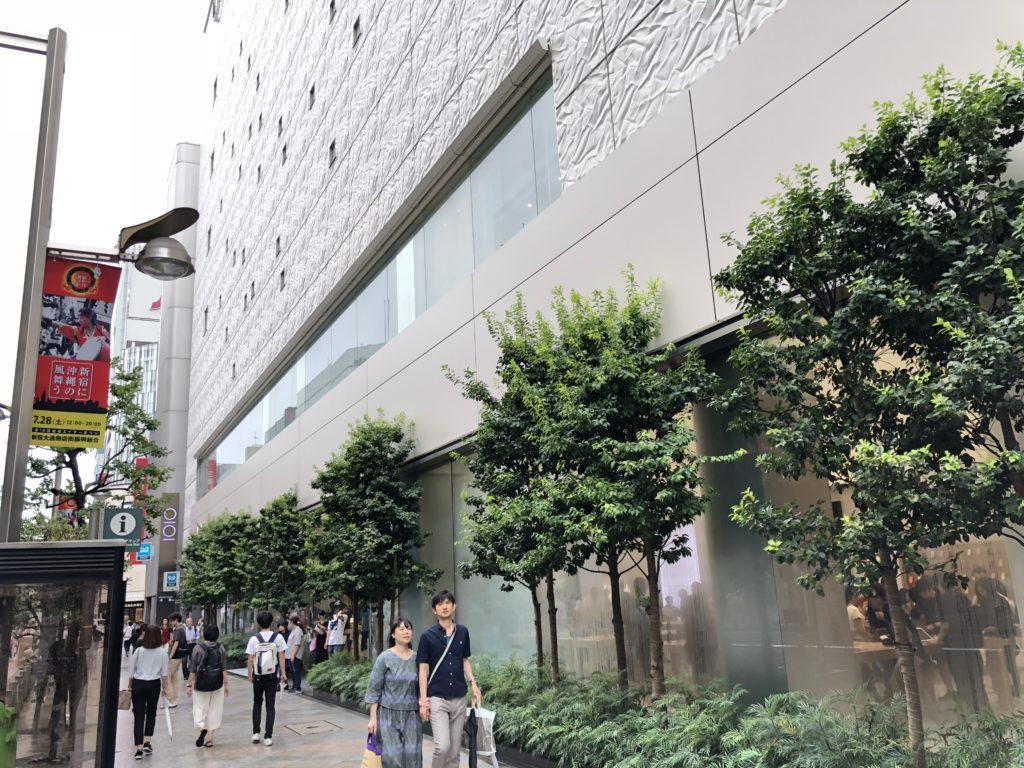 新宿駅東口からAppleStoreまでのアクセス