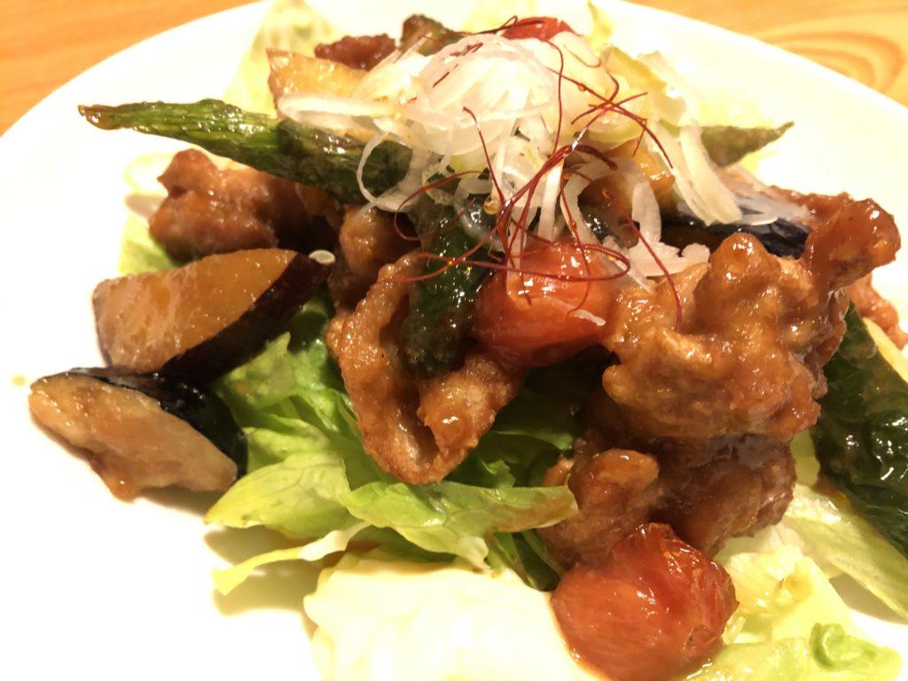 だんだん亭の「鶏の黒酢炒め定食」