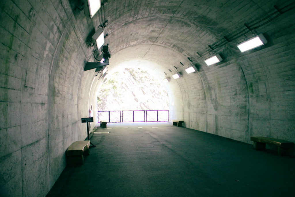 清津峡渓谷トンネル パノラマ