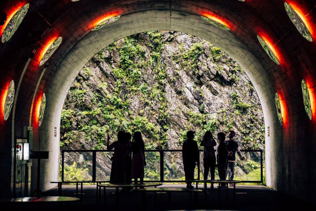 清津峡渓谷トンネル 写真