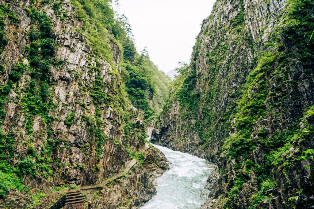 清津峡渓谷トンネル 景色