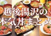南魚沼本気丼【2019年】越後湯沢のマジ丼、6店舗7丼まとめたよ